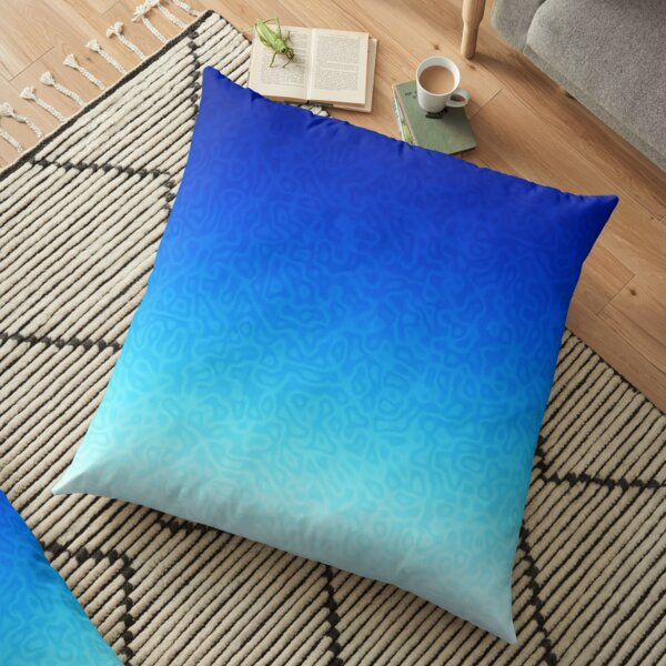 Brash & Sassy Blue Floor Pillow