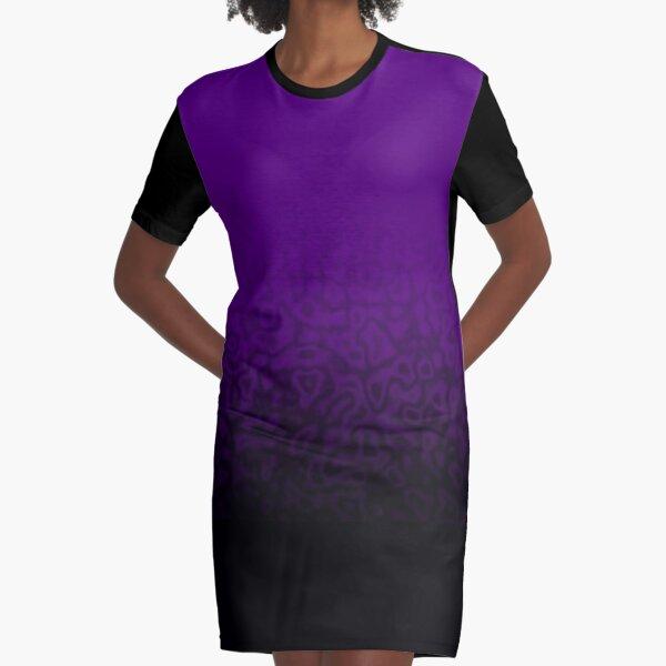 Dark Purple Power Graphic T-Shirt Dress