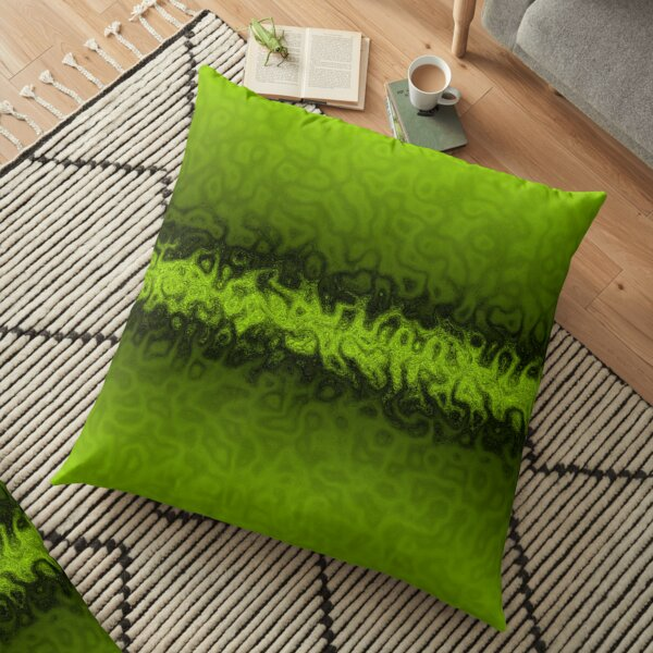 Lime Green Shadows Floor Pillow