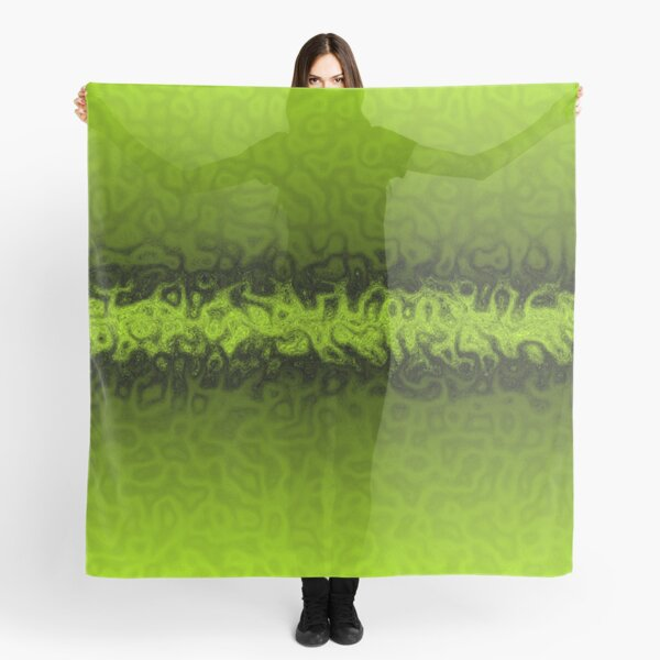 Lime Green Shadows Scarf
