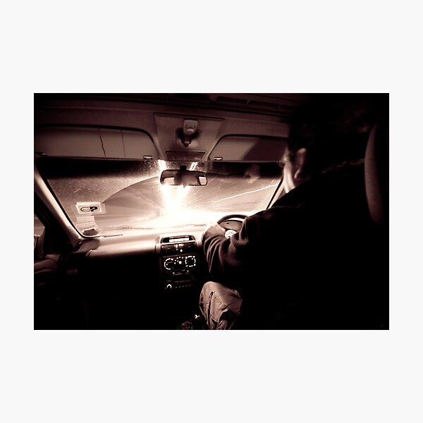 Driving down the highway of light Photographic Print