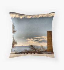 Snow Across the Prairies Throw Pillow