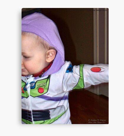 Buzz Lightyear Dodging the Paparazzi Canvas Print