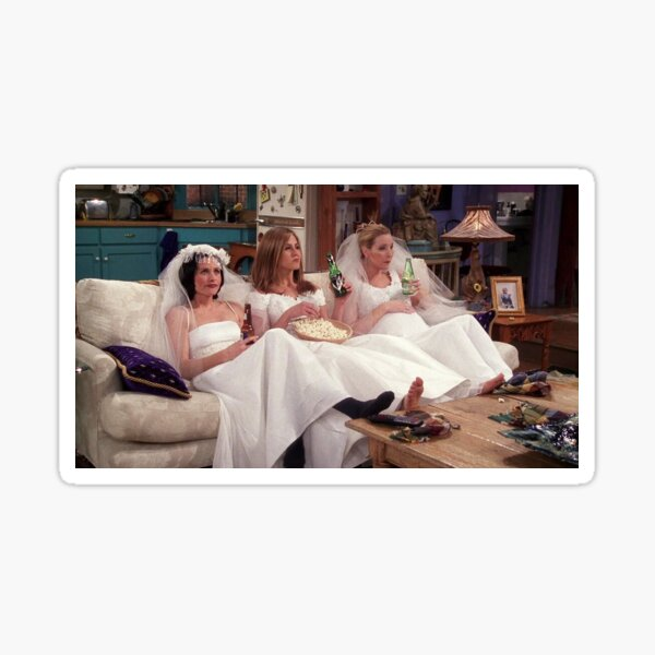 Friends Funny Wedding Dress Sticker Sticker