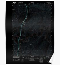 USGS Topo Map Oregon Winchester 20110824 TM Inverted Poster