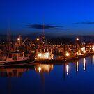 Dusk on Gloucester's Day Boats by Steve Borichevsky
