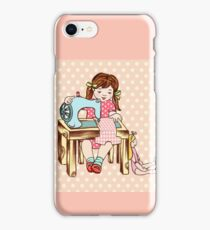 Little girl sewing iPhone Case/Skin