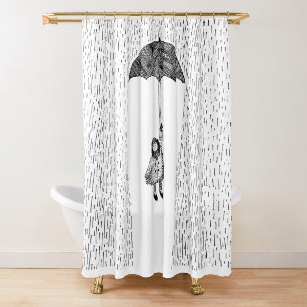 Rainswept Shower Curtain