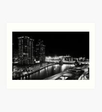 Night time - Chicago, IL Art Print