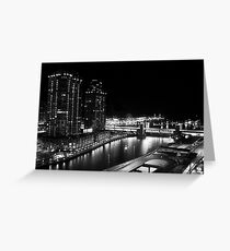 Night time - Chicago, IL Greeting Card