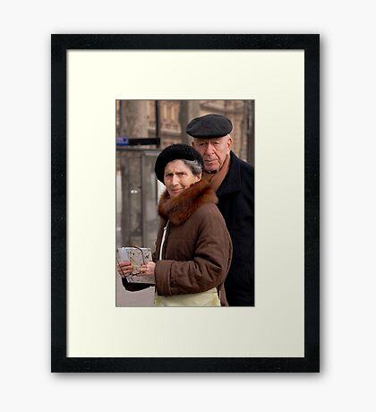 Parisian tourists Framed Print