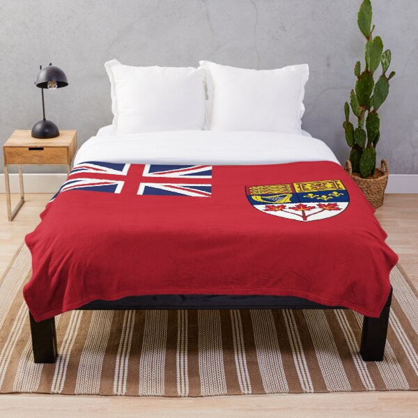Canada Red Ensign Flag vintage canadian symbol HD High Quality Online Store Throw Blanket