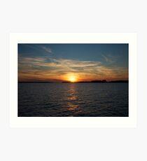 St. Lawrence Sunset Art Print