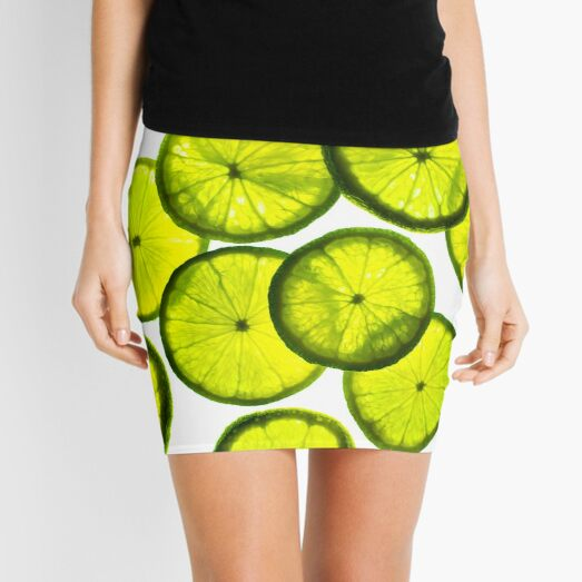 Green limes Mini Skirt