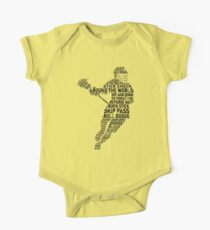 Lacrosse Player Calligram One Piece - Short Sleeve