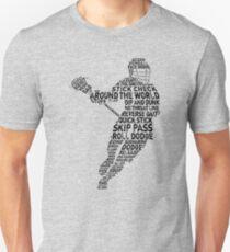 Lacrosse Player Calligram Unisex T-Shirt