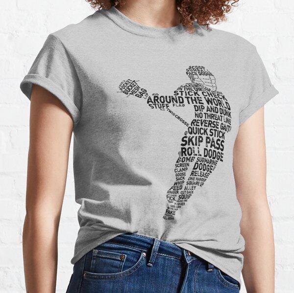Lacrosse Player Terminology Word Art Classic T-Shirt