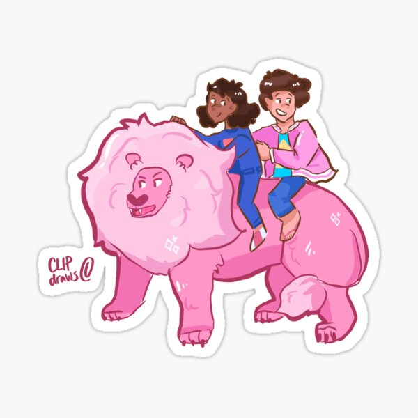 Steven, Connie and Lion  Sticker