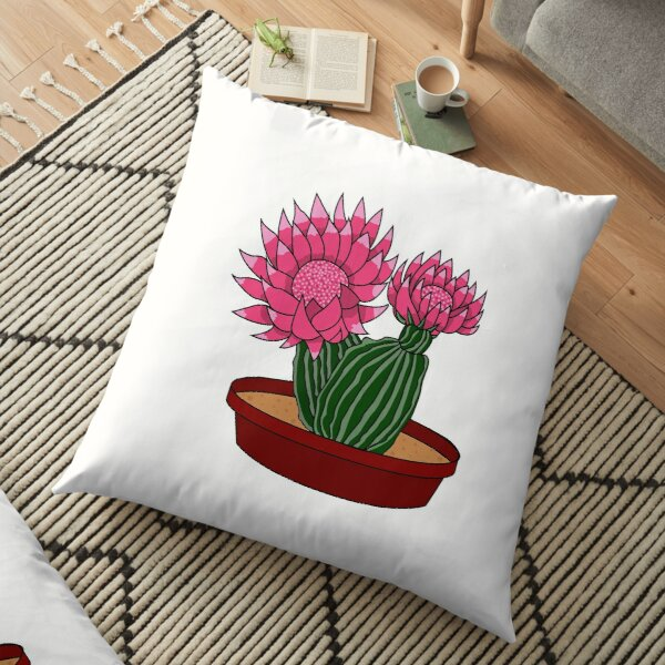 Christmas Cactus Floor Pillow