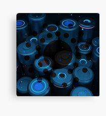 Reunion Blue - Abstract CG Canvas Print