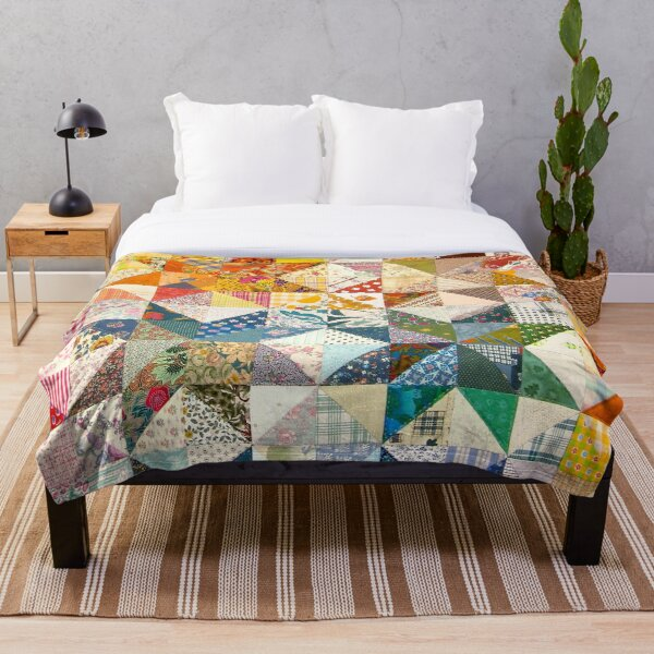 Vintage Quilt Tapestry Throw Blanket