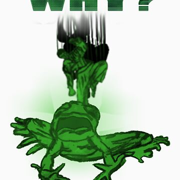 Abused Frog Asking Why by foilthethree