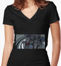 Reunion - Abstract CG Women's Fitted V-Neck T-Shirt