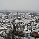 Brugge in the snow by adelaideT