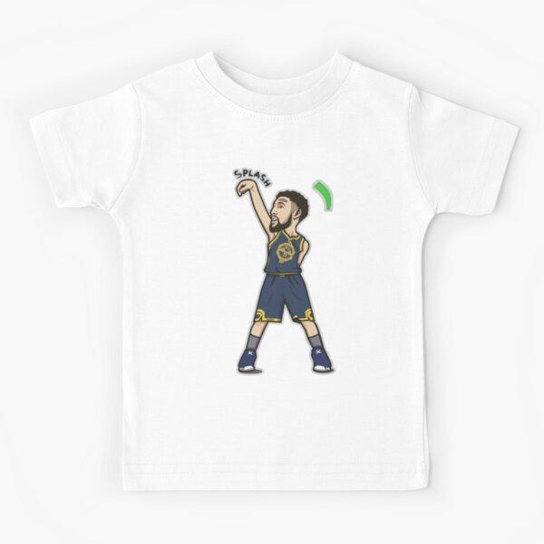 Klay Thompson Cartoon Style Kids T-Shirt