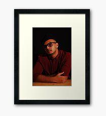 Abstract retro Framed Print