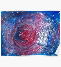 TARDIS in watercolour 01 Poster