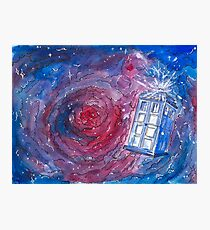 TARDIS in watercolour 01 Photographic Print