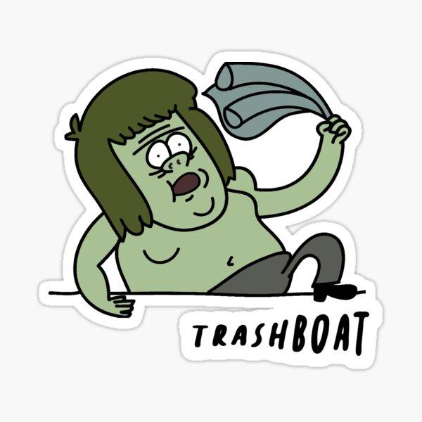 Muscle Man Trashboat Regular Show Sticker