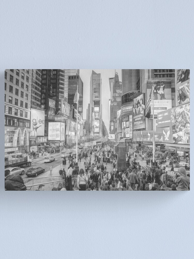 Alternate view of Times Square Tourists (pencil and ink sketch) Canvas Print