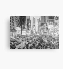 Times Square Tourists (pencil and ink sketch) Metal Print