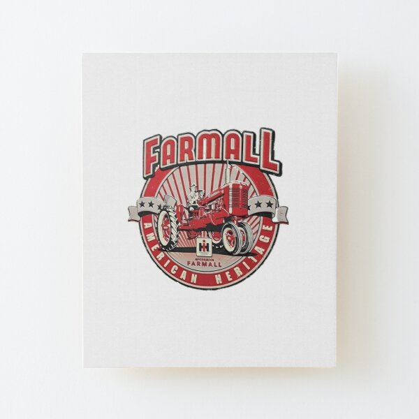 American Heritage FARMALL Tractors Vintage,Farmers Wood Mounted Print