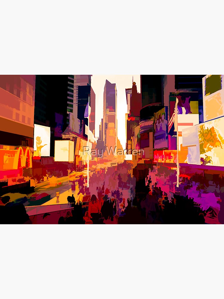 Times Square Tourists (color pen & ink) by RayW