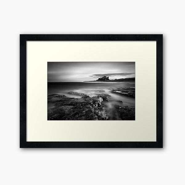 Bamburgh at High Tide Framed Art Print