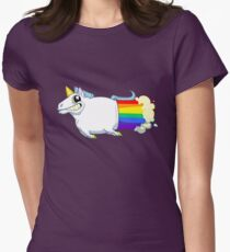 Unicorn Farts Womens Fitted T-Shirt