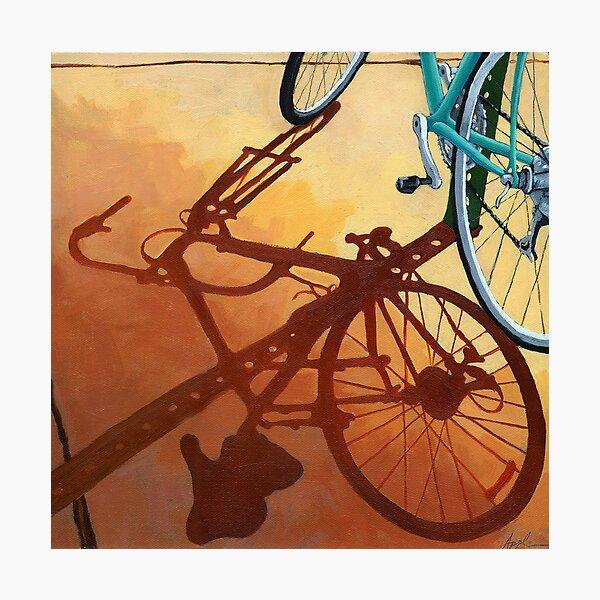 Aqua Angle - bicycle painting Photographic Print