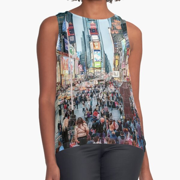 Times Square Tourists (color marker) Sleeveless Top