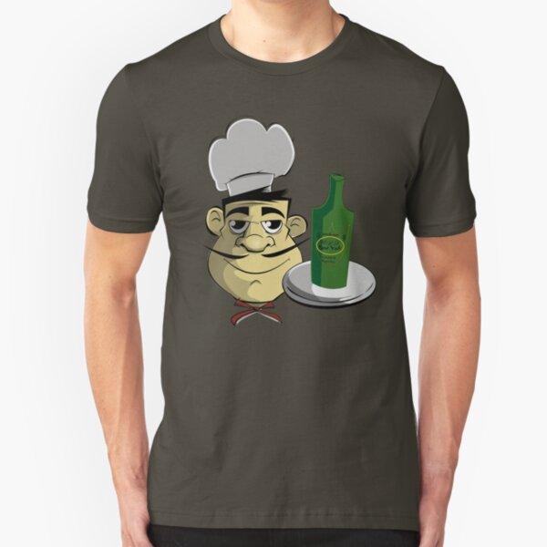 usa new york tshirt chef by rogers bros co Slim Fit T-Shirt