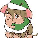 «Elf-ephant (Mammoth) Chritsmas» de belettelepink