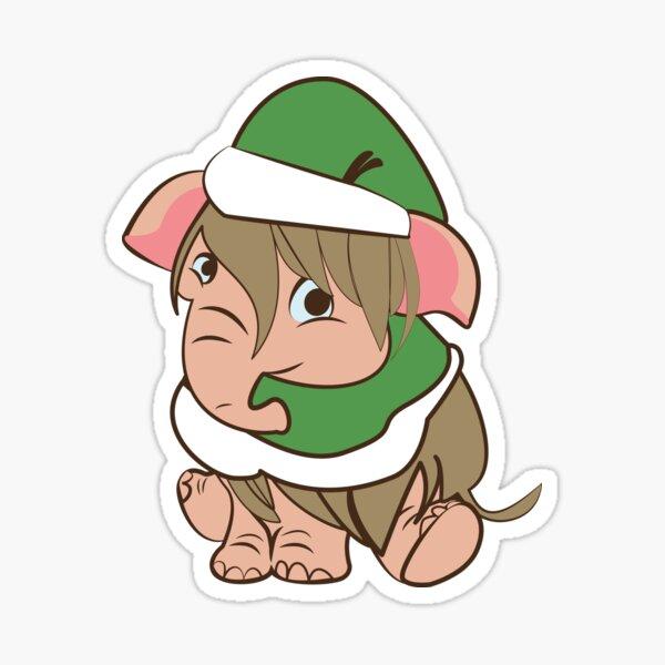 Elf-efant (Mamut) Chritsmas Pegatina