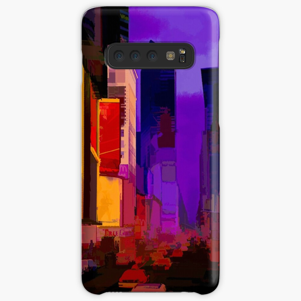 Times Square Broadway (colour pen & paint) Case & Skin for Samsung Galaxy