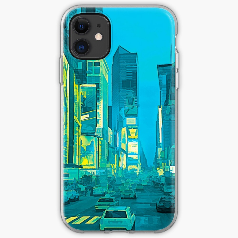 Times Square Broadway (tricolour abstract) iPhone Case & Cover