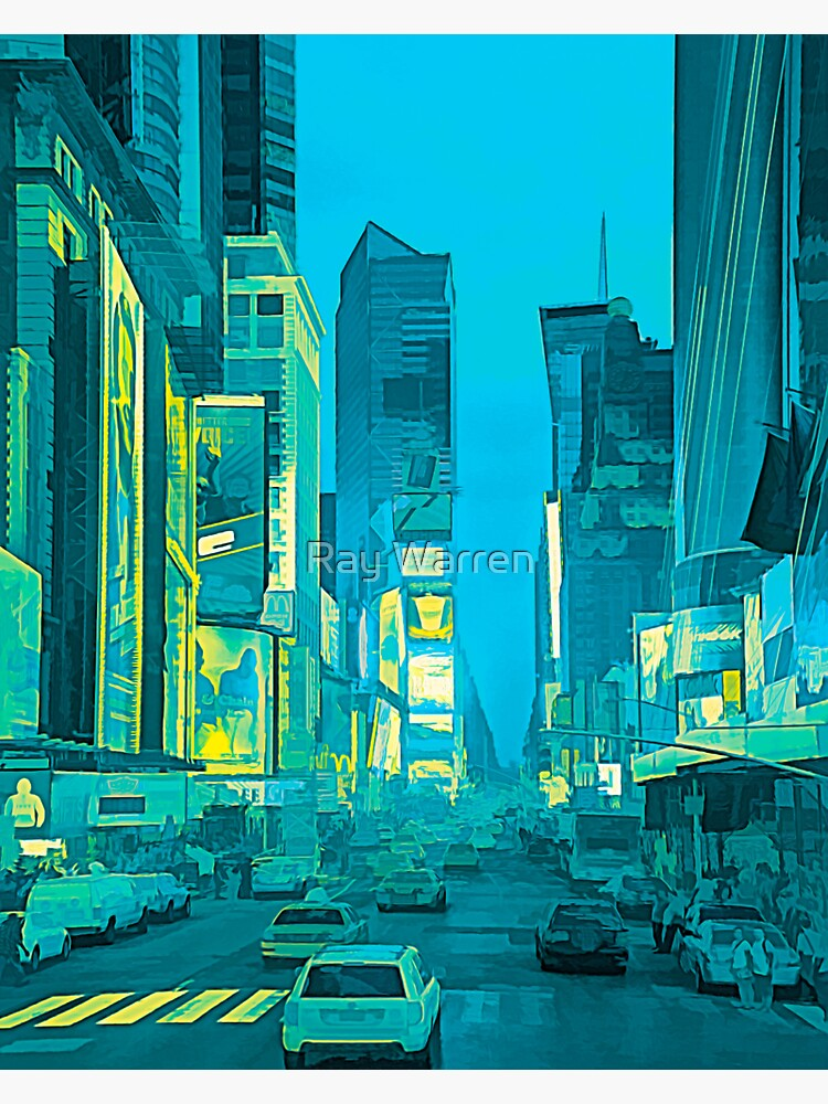 Times Square Broadway (tricolour abstract) by RayW