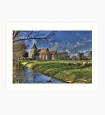 St Clements,Old Romney with Sheep Art Print