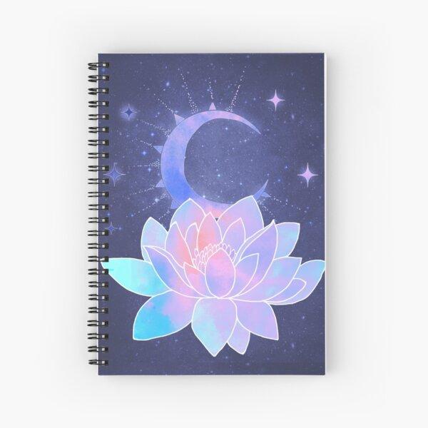 moon lotus flower Spiral Notebook