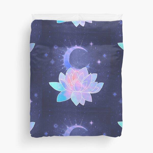 moon lotus flower Duvet Cover